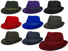 New Fashion Unisex Bowler Derby Hat 100% Wool Formal Events Fedora Gangster Cap