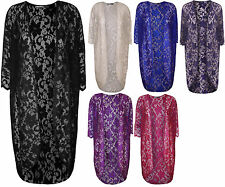 New Ladies Floral Lace Short Sleeve Open Womens Comono Long Cardigan