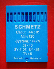 SCHMETZ Industrial Sewing Machines Needles CANU:44:31 NM:120 SYSTEM:149x5