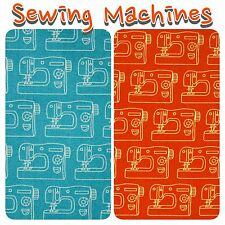 Makower Sew Simple Sewing Machine 100% Cotton Patchwork Fabric Fat Quarters