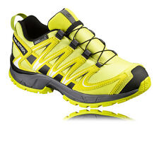 Salomon XA Pro 3D CSWP Junior Yellow Black Waterproof Walking Hiking Shoes