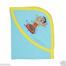 Chhota Bheem Plain Cotton Soft Baby Hooded Wrapper for New Born