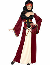 Ladies Gothic Vampiress Vampire Halloween Outfit Fancy Dress Costume