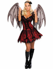 Ladies Gothic Vampire Fairy Halloween Party Outfit Fancy Dress Costume