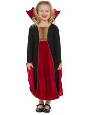 Child Halloween Gothic Vampiress Vampire Fancy Dress Costume