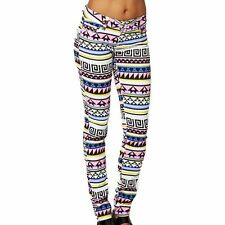 Multi coloured bright patterned stretch skinny jeans