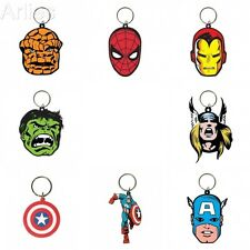 Marvel Rubber Key Chains - Spiderman, Captain America, Thor, Iron Man, Hulk
