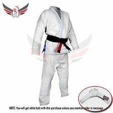 BJJ Gi Suits Competition Uniform for Adults White Blue Brazilian Jiu Jitsu Suit
