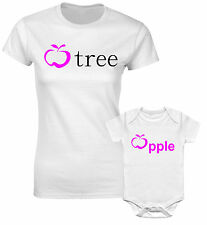 Apple Tree & Apple Fruit Mothers Mum Mummy Daughter Family Matching T shirts