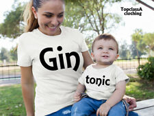 Gin And Tonic Mother Mum Aunty Neice Mummy Daughter Matching T shirts