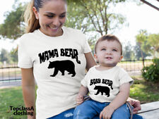 Mama Bear And Baby Bear Mother Mum Mummy Daughter Matching T shirts