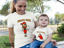 Pirate Mum Pirate Baby Mummy Mother Daughter Matching T shirts