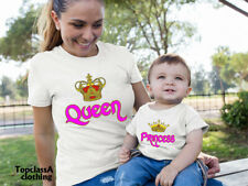Queen Princess Royal Crown Mothers Mummy Mum Daughter Family Matching T shirts