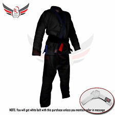 BJJ Gi Competition Suits Adult Brazilian Jiu Jitsu Uniform Men's Suit Black Blue