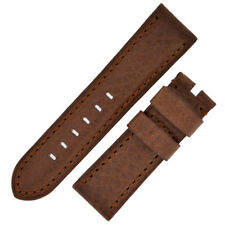 Panerai Style Vintage Leather Watch Strap in BROWN