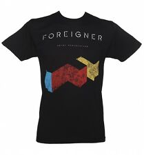 Men's Black Foreigner T-Shirt from Goodie Two Sleeves