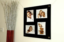 "CHESHIRE ACRYLIC 19X18"" multi magnetic wall  PHOTO FRAME for 4x 5X7""  PICTURE"