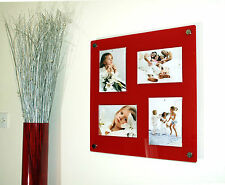 "RED black white clear or frost ACRYLIC 19X18"" multi PHOTO FRAME 5X7"" PICTURE X4"