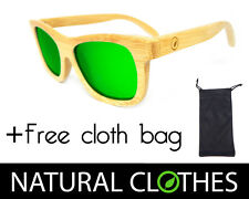 Bamboo Rosewood Wooden Sunglasses Polarized Retro UVA UVB Bag Natural Clothes