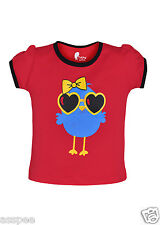 Tickling Baby Girls Casual Printed Cotton Half Sleeves Red Color T-Shirt