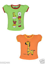 Tickling Baby Girls Casual Printed Cotton  Sleeveless T-Shirt - Pack of 2
