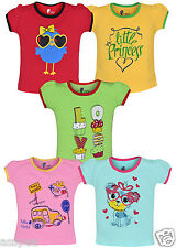 Tickling Baby Girls Casual Printed Cotton  Sleeveless T-Shirt - Pack of 5