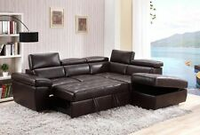 Vento Corner Sofa Set with Leather Lux Fabric - Three Colours Available