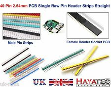40 Pin 2.54mm Straight Raw Male Header PCB Pin Strips Colour DIY ARDUINO x4 x8