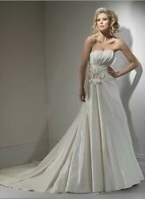 "Maggie Sottero ""GAIL"" Price Buster NOW £160 WAS £899 UK 14 Ivory Taffeta"