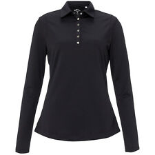 Callaway Golf Womens Sarah Fleece Lined Long Sleeve Golf Polo Shirt RRP£44.99