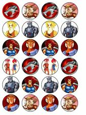 24 x Thundercats Cup Cake Toppers (Precut Available)