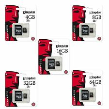 Kingston Micro SD 4GB 8GB 16GB 32GB 64GB SDHC Mobile telefono & Tablet Classe 10