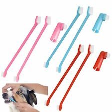 3pc Pet Dental Teeth Care Puppy Dog Cat Toothbrush Cleaning Set Soft Bristles