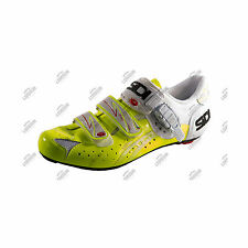 SCARPE SIDI GENIUS 5 FIT CARBON VERNICE BIANCO GIALLO WHITE YELLOW CYCLING SHOES