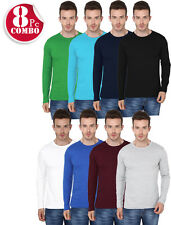 8 Compo Pack Men's Round Neck Full Sleeve Tshirts-GSM 190- (Rs.2199)