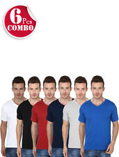 6 Combo Pack Multicolored V-Neck Short Sleeve Tshirts- GSM-190 - Rs.1479