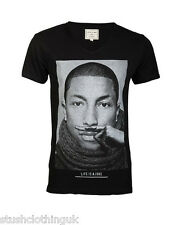 Eleven Paris Men's PHARRELL WILLIAMS MOUSTACHE Print Black (EPTS042)