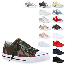 Damen Herren Sneakers Low Canvas Schuhe Turnschuhe Freizeit 812509 New Look
