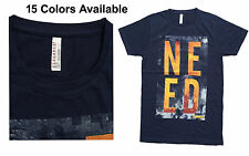 Mens Branded Slim Fit Printed T-shirts (Size - M - 39)