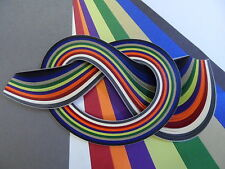 Pearlised Quilling paper, 2mm, 3mm, 5mm, and 10mm.
