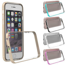 Metallo Paraurti Bumper Traperante TPU Gel Duro Custodia Cover Per iPhone