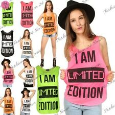 Sin Mangas Para Mujer Eslogan I Am Limited Edition Gym Edge Camiseta Sin Mangas