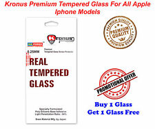 Kronus Premium Quality Tempered Glass For All Apple Iphone Models