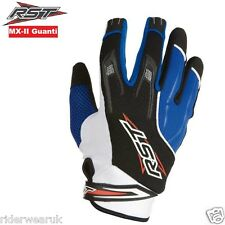 RST MX-2 Guanti moto scooter Off road Motocross Guanti Sportivi Quad Enduro, BLU