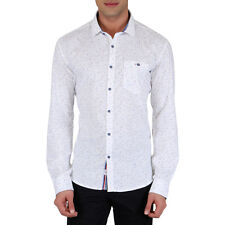 KILLER MEN'S WHITE LEAN FIT SHIRTS (7709 SPARK KS69FSL WT)