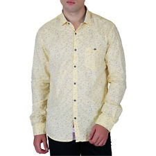 KILLER MEN'S YELLOW LEAN FIT SHIRTS (7709 SPARK KS69FSL YLW)