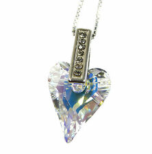 WILD HEART CRYSTAL STERLING SILVER NECKLACE PENDANT made with SWAROVSKI® Crystal