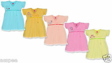 Orange and Orchid  Baby Girls Cotton Frock Pack of 5