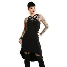 Dress Black Poizen Industries Morticia Witch Pentagram Robe Noir Gothique Gothic