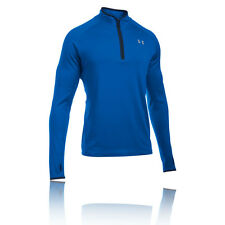 Under Armour No Breaks Mens Blue Long Sleeve Half Zip Fitness Sports Top